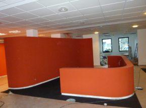 Trennwände und Meisterkabinen, Akustik- und Kühldecken